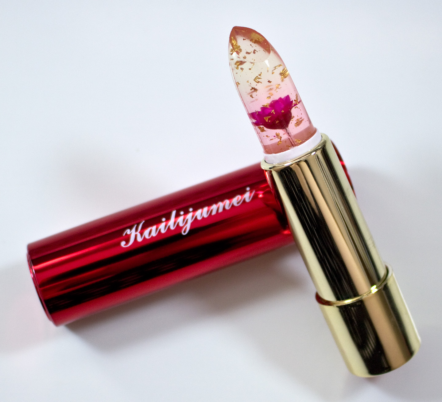 WARPAINT and Unicorns Kailijumei Flower Jelly Lipstick in Flame Red with Mi