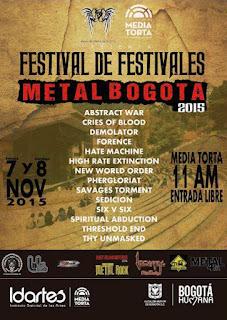 Festival de Festivales, 'METAL Bogotá 2015'