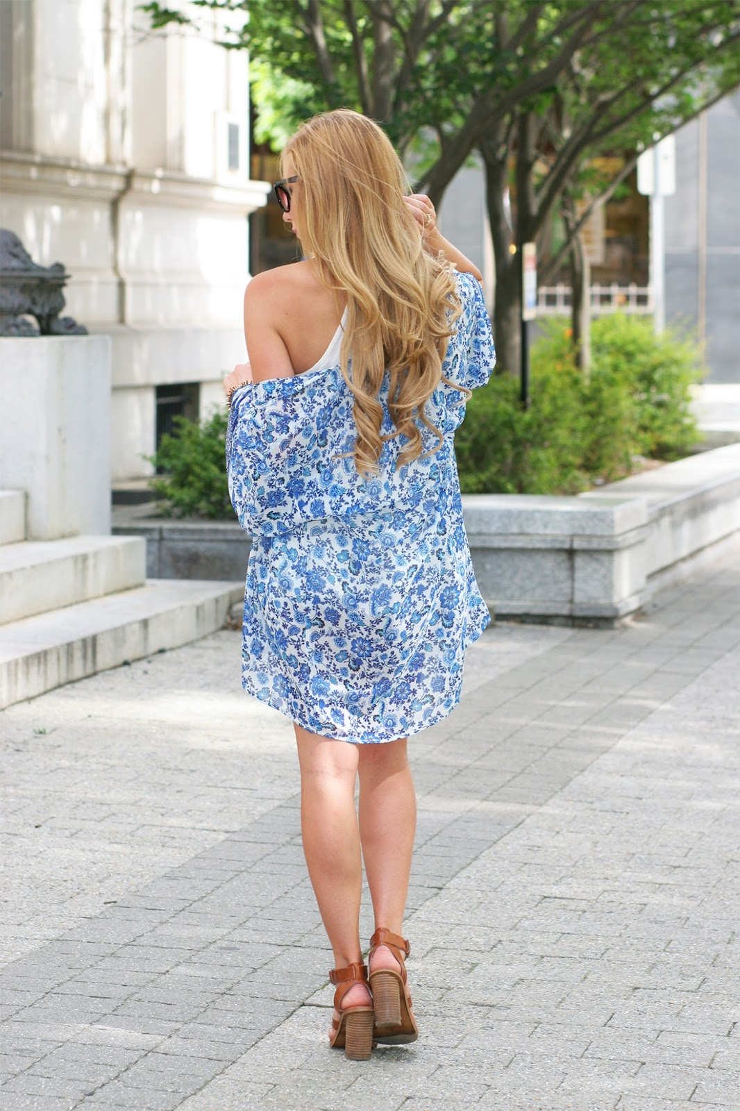 White-and-blue-floral-h-and-m-print-kimono