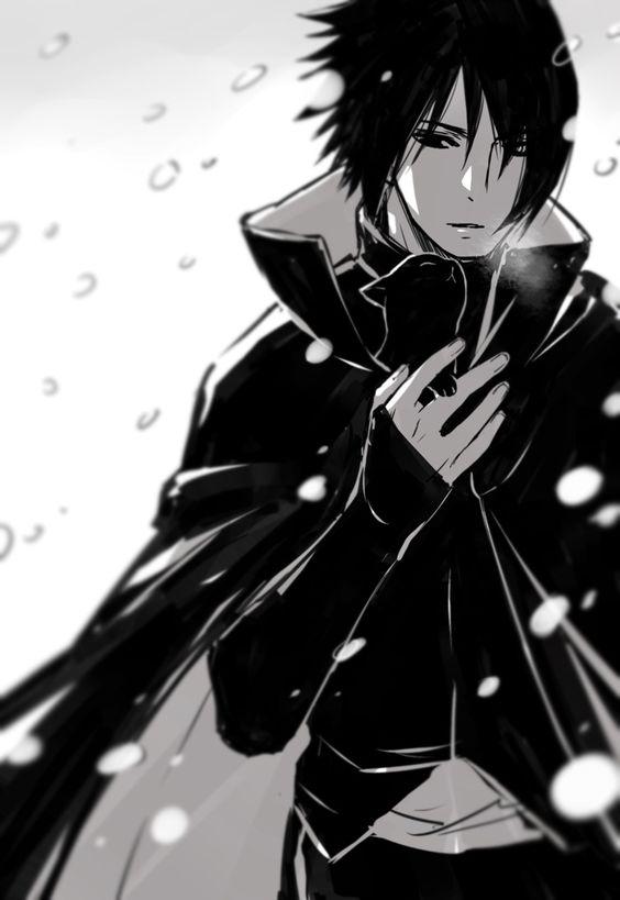 sasuke uchiha black outfit