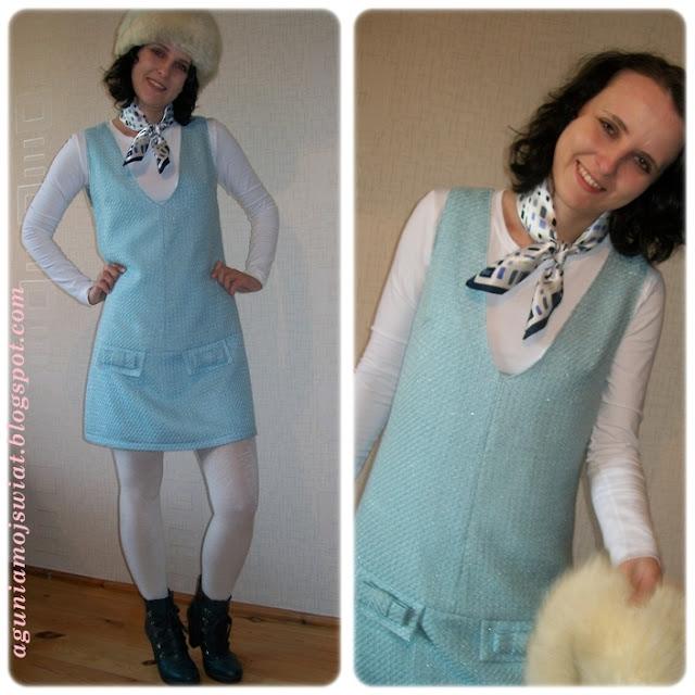 Sukienka z  Burda 09/2012