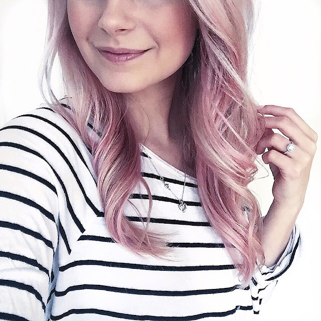 boho inspired temporary pink hair colour