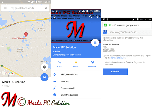 Steps to claim your business on Maps