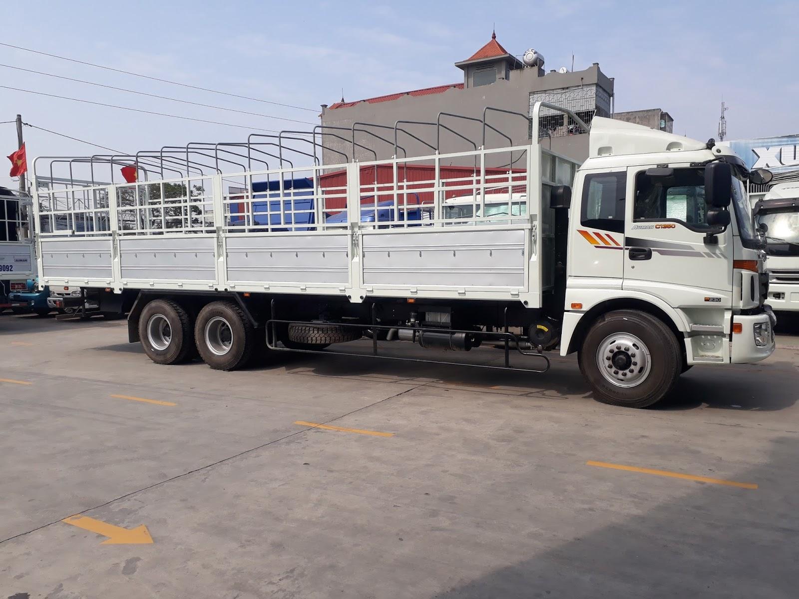 Xe tải 3 chân Thaco Auman AC1350  tại Hải Phòng dòng xe tải thùng dài hơn 9 mét của Trường Hải