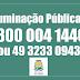 Prefeitura de São Joaquim implanta número para pedidos de reparos na iluminação pública.