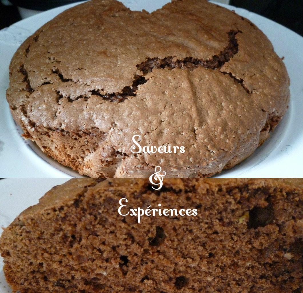 Gateau avec 3 oeufs et cacao