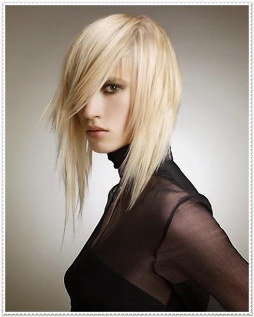 Asymmetrische Frisuren 2014