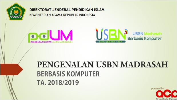 Juknis USBN Madrasah Berbasis Komputer TP. 2018/2019