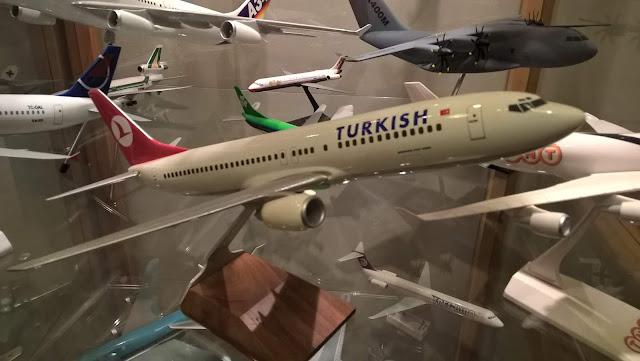 Maket Boeing 737-700 Turkish Airlines uçağı. İstanbul Havacılık Müzesi.
