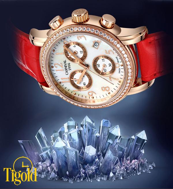 đồng hồ nữ Carnival đính đá