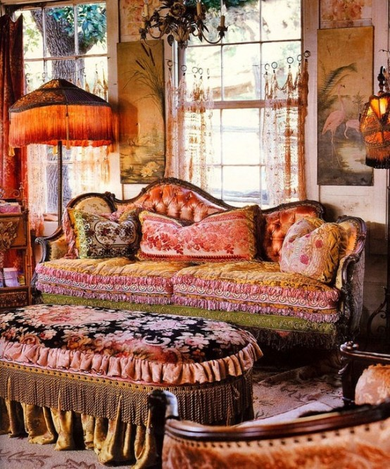 Bohemian Decor: Inside & Out Interiors: Style Sunday