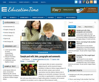 Responsive bootstrap theme for education college green.