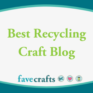 Featured as 1 of 10 Recycling Craft Blogs to Follow