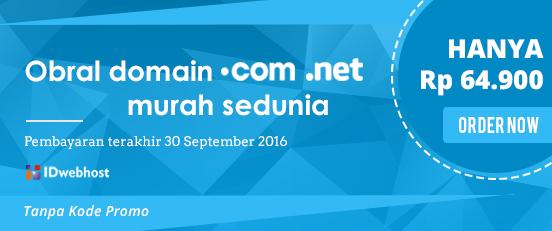 Obral Domain .COM dan .NET Cuma Rp 64.900