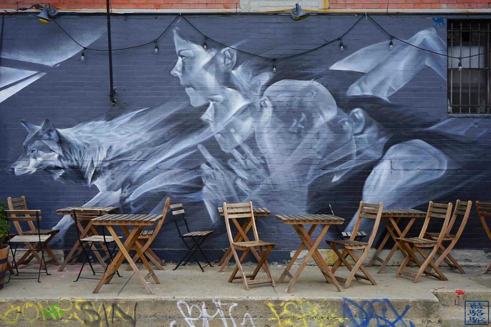 Le Chameau Bleu - Street art Loup - Bushwick - Brooklyn promenade dans New York