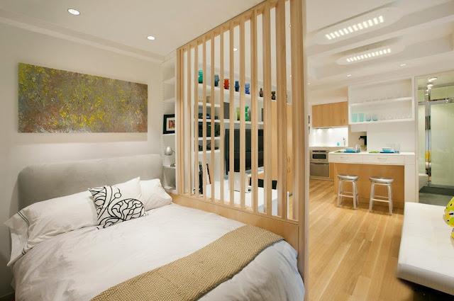 vách ngăn gỗ phòng ngủ- mẫu số 1