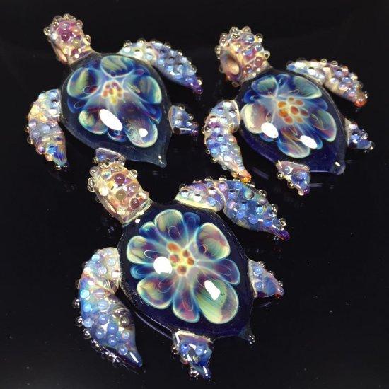 Paul Katherman Glass esculturas de vidro brilhantes pingentes orgânicas cores