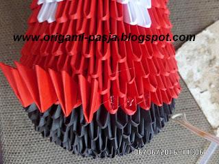 origami modułowe, 3d, papier, klej