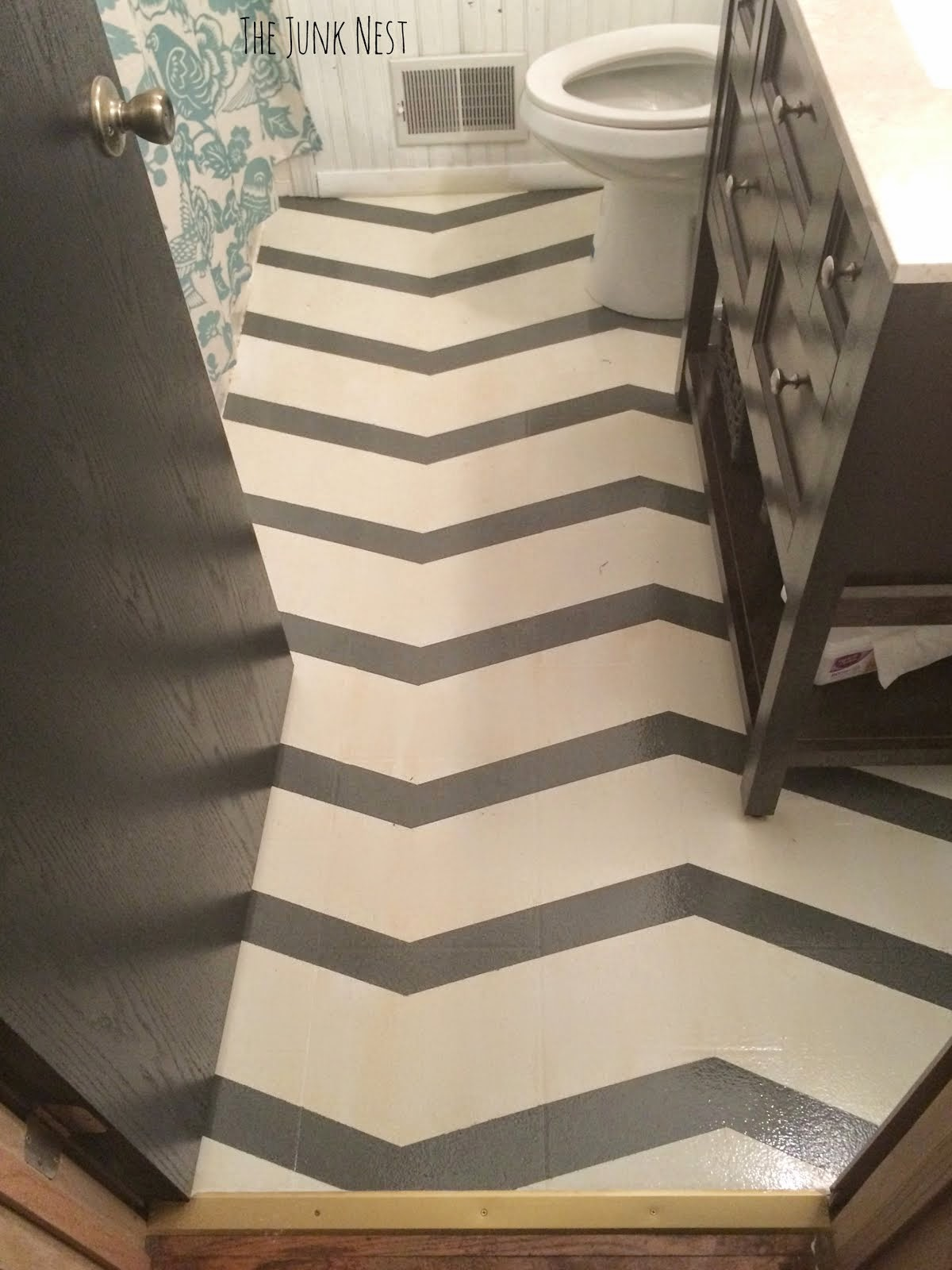 Chevron Painted Floor