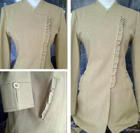 Model Baju Seragam Guru Polos Fashion Tren