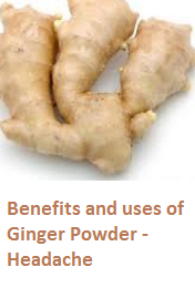 Benefits and uses of Ginger Powder - Headache