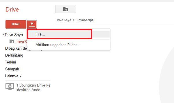 Hosting JavaScript dan CSS di Google Drive