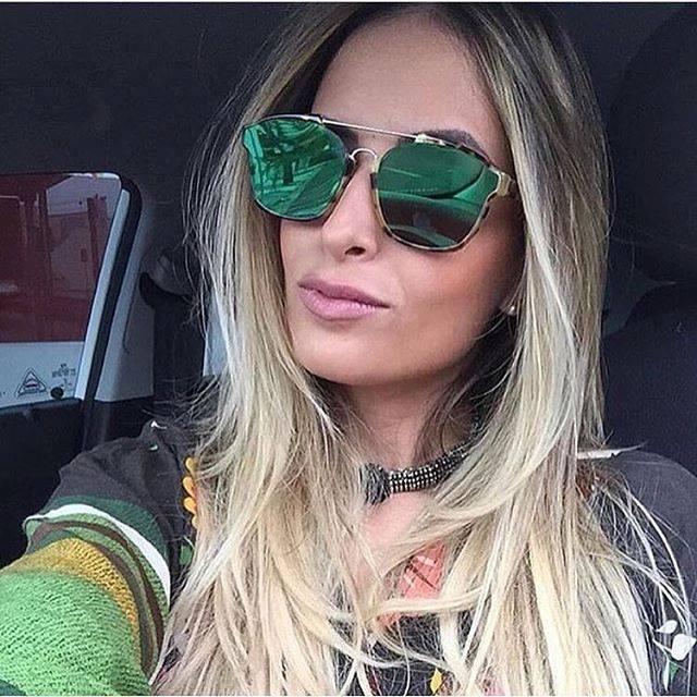 6ddadbf22 Eu uso Óculos: Dior Abstract Verde Espelhado