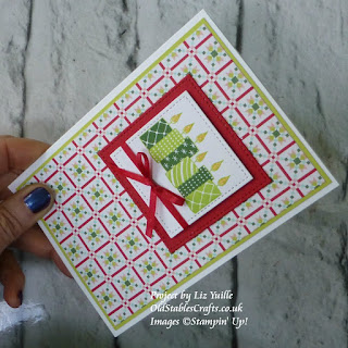 Quilted Christmas Merry Patterns Christmas Card Stampin Up