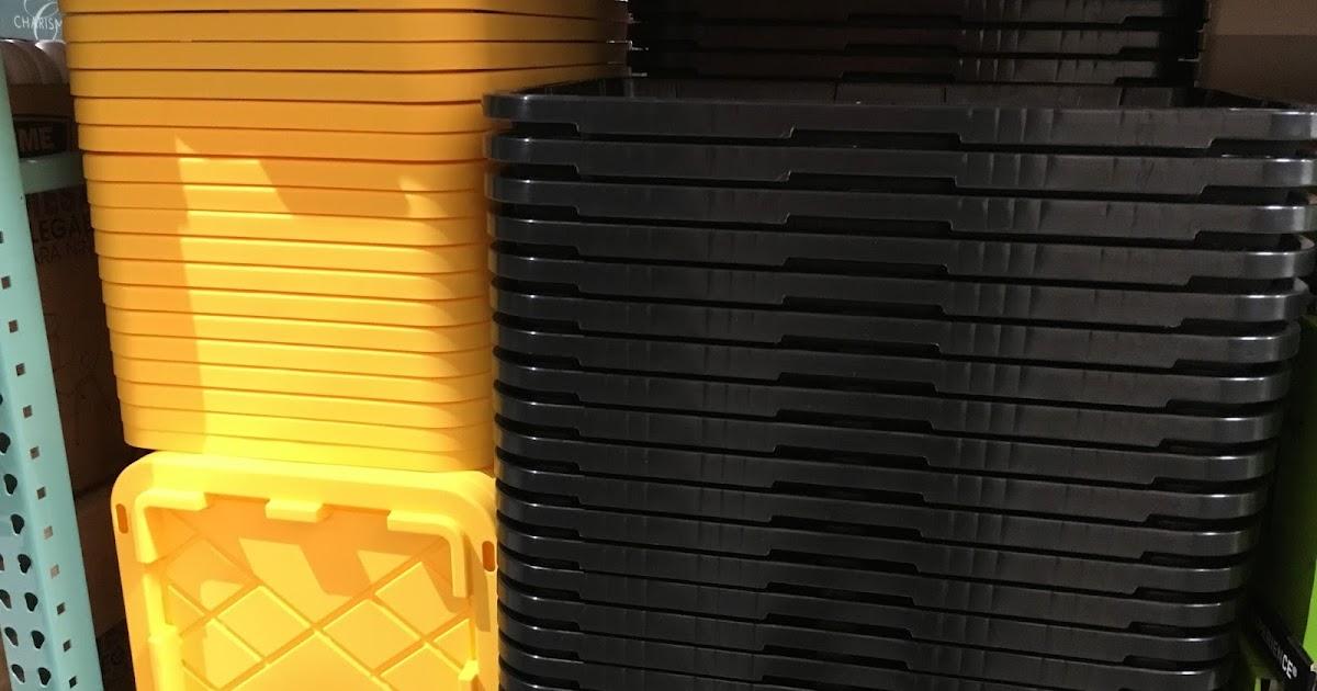 27 Gallon Storage Bin ToughDurable Plastic Black with