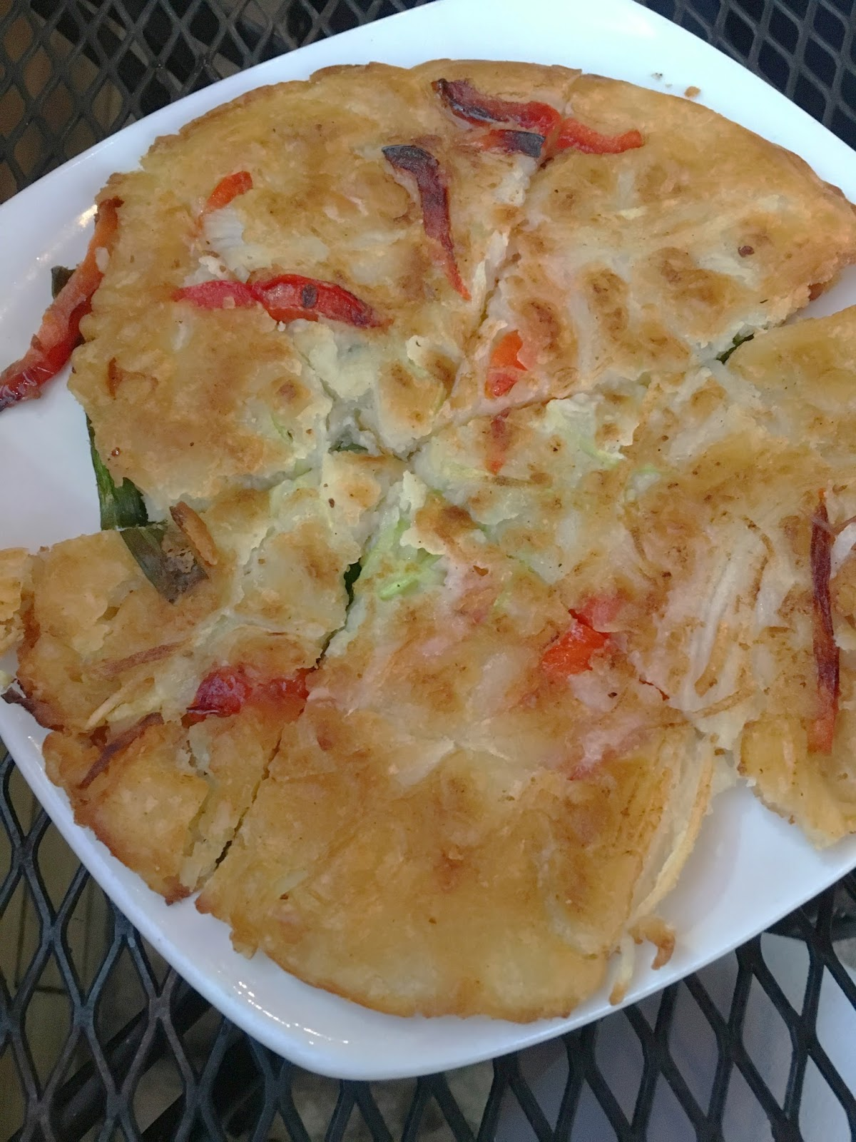 pajeon at Republic Diner + Sojubang, a Korean restaurant in Houston, Texas