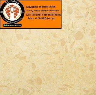 Egyptian marble slabs