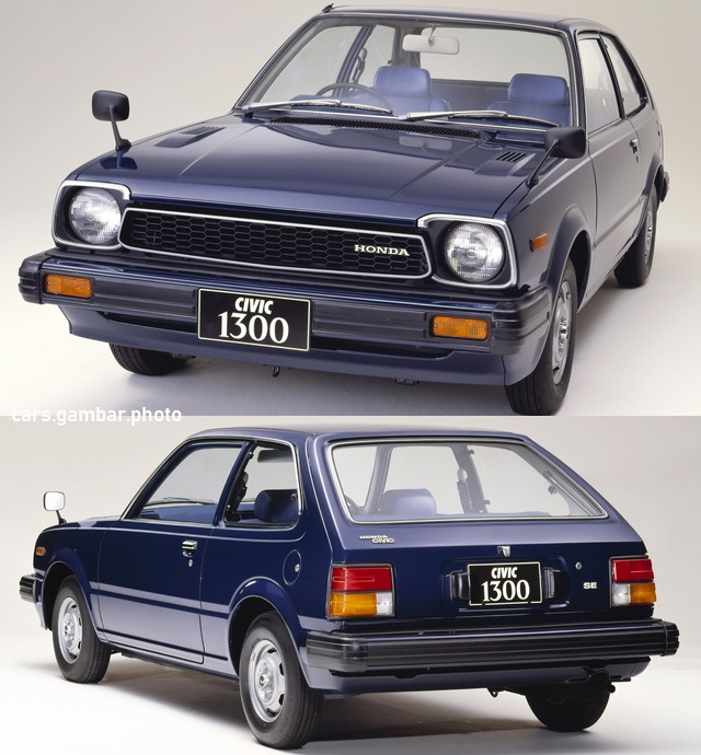 1981 Honda Civic 2-door 1300-SE Dark Blue