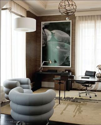 chic small office via belle vivir blog