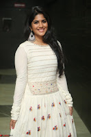 Megha Akash in beautiful White Anarkali Dress at Pre release function of Movie LIE ~ Celebrities Galleries 045.JPG
