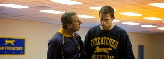 Steve Carrel, Channing Tatum e Mark Ruffalo no trailer do drama FOXCATCHER, de Bennett Miller
