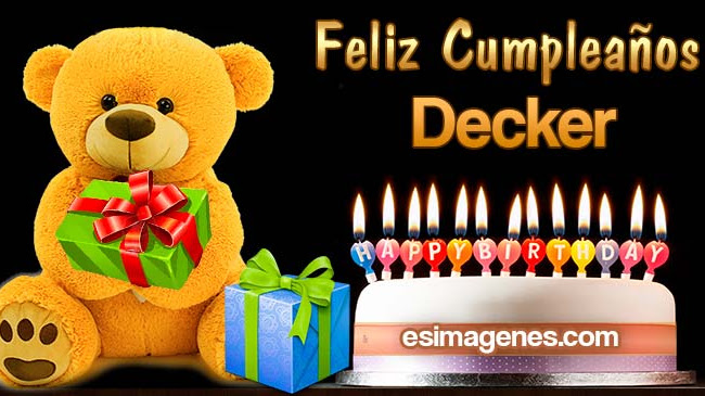 Feliz cumpleaños Decker