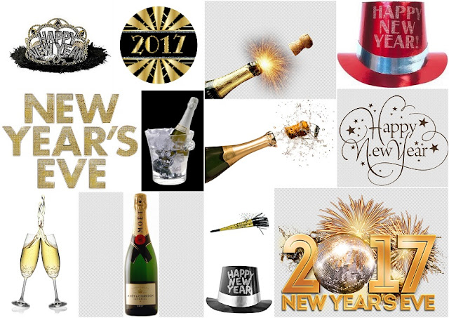 Sparkling New Year´s Eve Party: Free Printable Photo Booth Props.