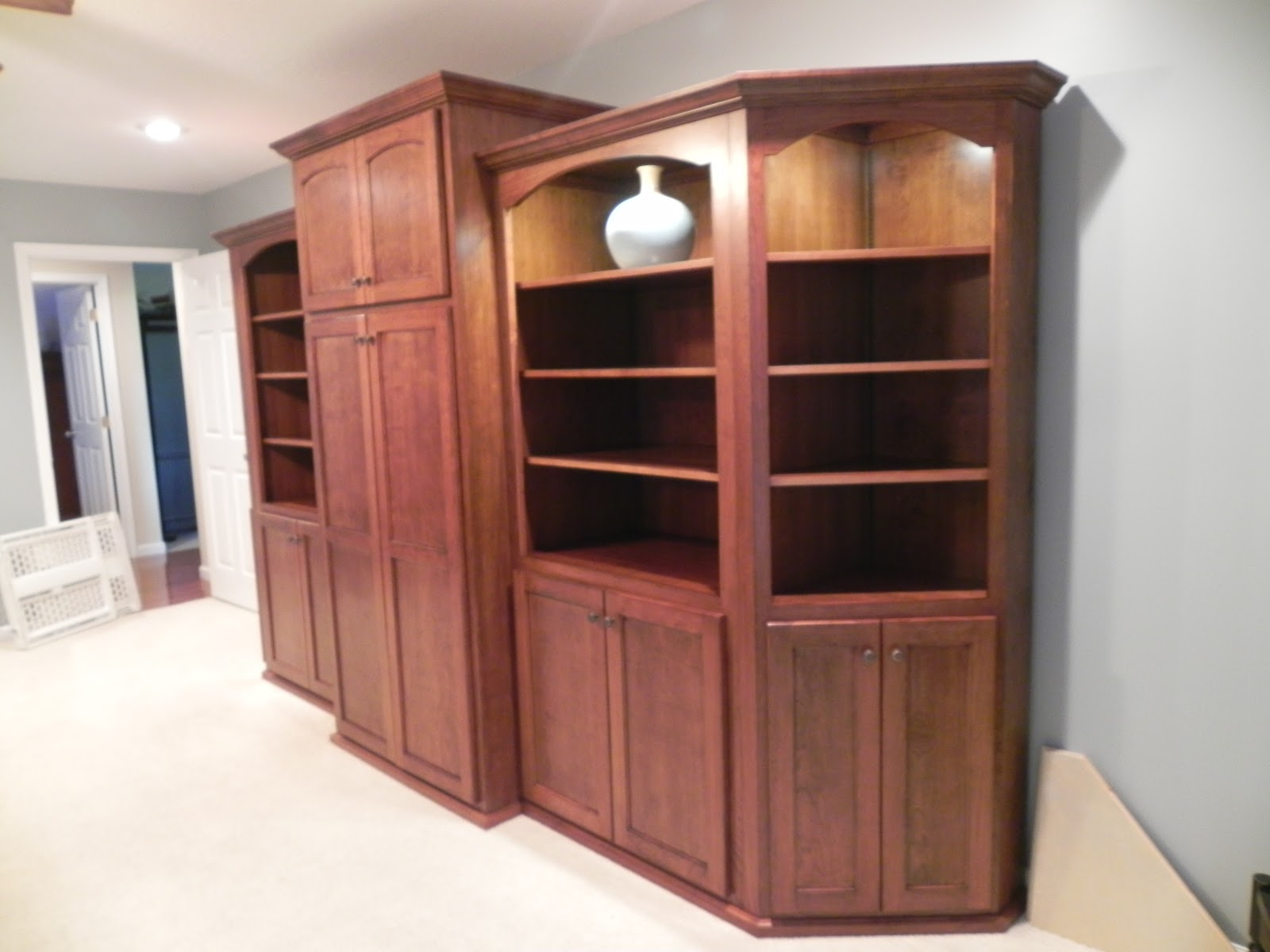 Adkisson's Cabinets: Cherry bookcases and Alder wood ...