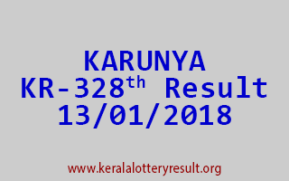 KARUNYA Lottery KR 328 Results 13-01-2018