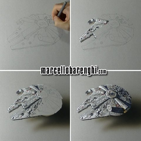 10-Millennium-Falcon-Marcello-Barenghi-Realistic-Movie-Character-Drawings-www-designstack-co
