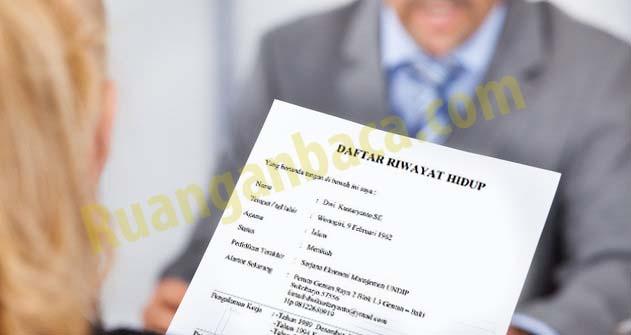 Daftar riwayat hidup | CV siap download dan edit ms.word