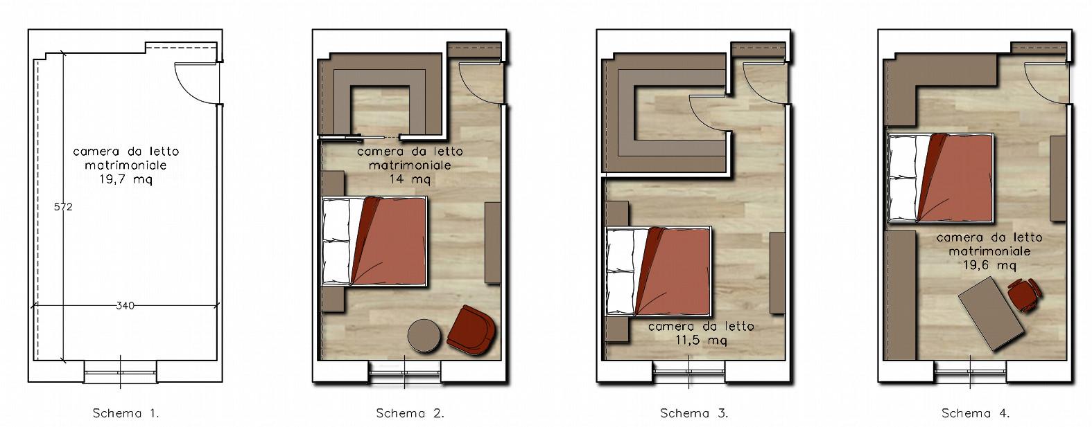 Estremamente arredare camera da letto 9 mq aj31 pineglen - Progetto camera da letto ...