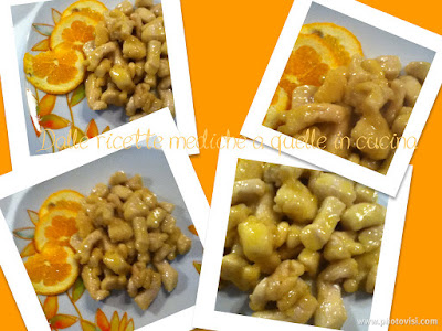 bocconcini di pollo agli agrumi alle mandorle