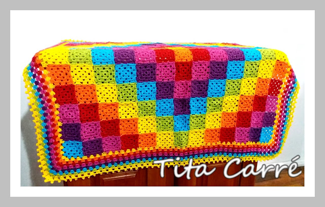 Colcha de Squares Multicolorida