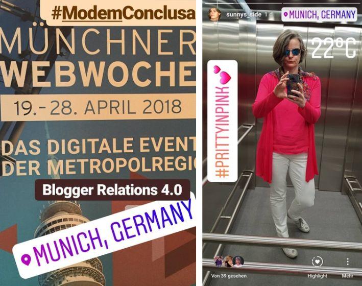 Modefarbe Pink mit Weiß bei Modem Conclusa im Rahmen der Webwoche München