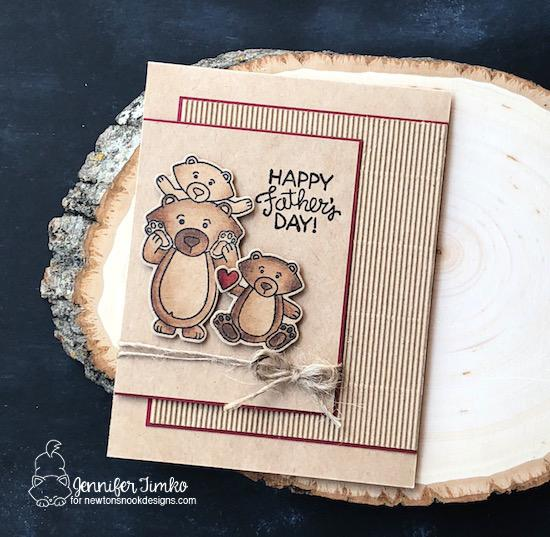 Bear Father's Day Card by Jennifer Timko | Papa Bear Stamp Set by Newton's Nook Designs #newtonsnook #handmade