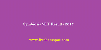Symbiosis SET Results 2017