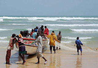 Senegal fishing boats