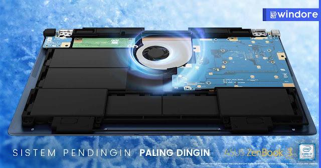 Lebih Dingin Asus Zenbook 3 UX390