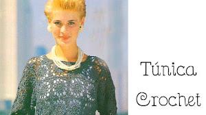 Teje una túnica con motivos cuadrados al Crochet / Paso a paso